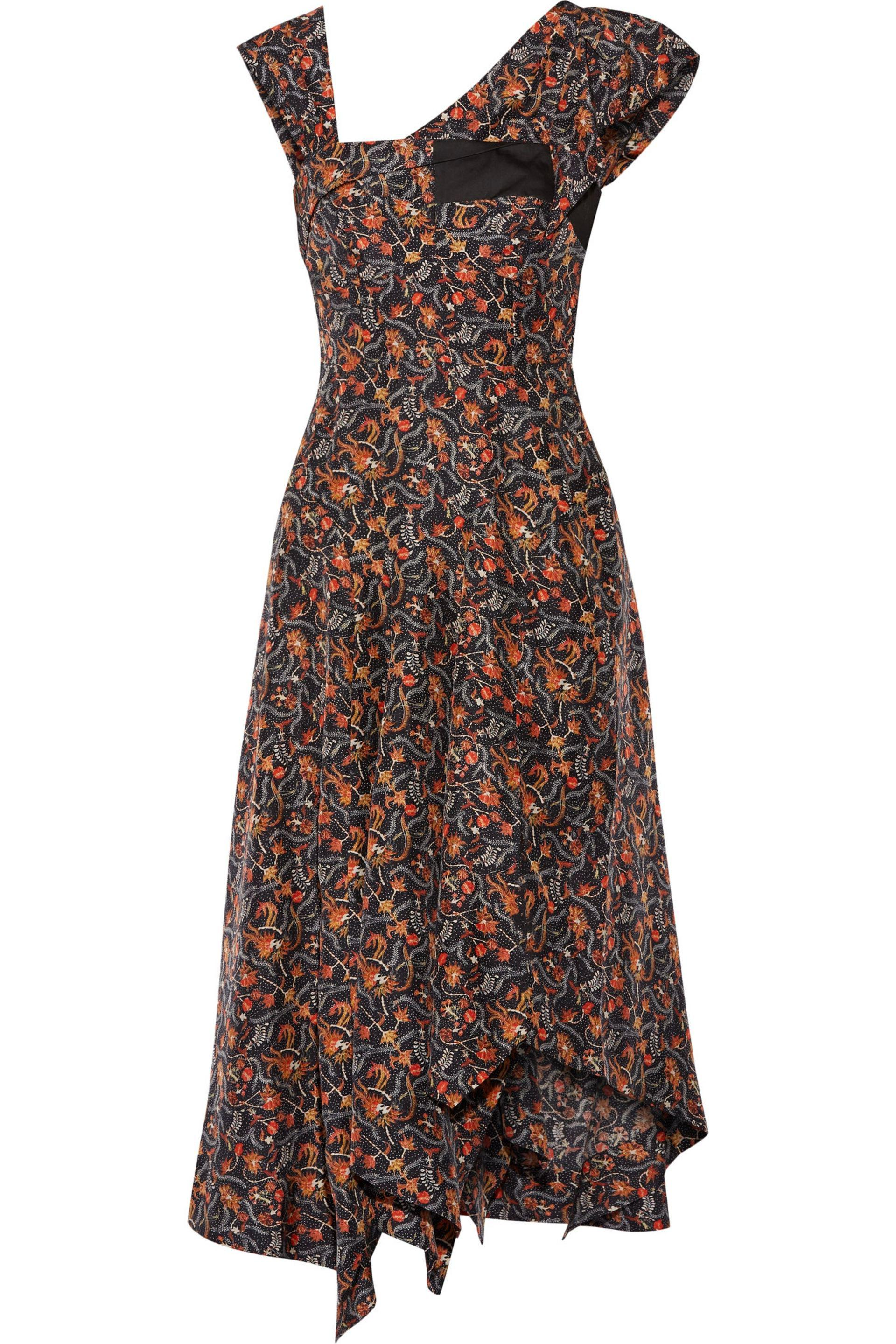 Isabel Marant Woman Rocky Asymmetric Printed Silk-voile Midi Dress Midnight Blue Size 42 Isabel Marant Sale Wholesale Price Free Shipping Looking For With Credit Card For Sale How Much Exclusive For Sale N5SSSPnph