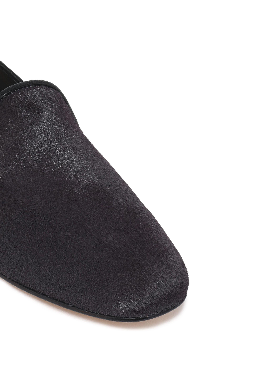 Diane von Furstenberg Woman Calf Hair Slippers Dark Size 8.5 aodi04OxLu