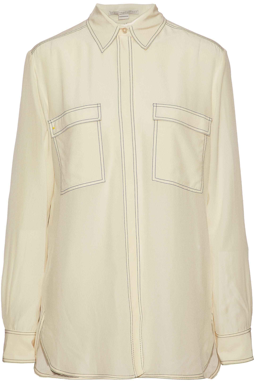 5eb6631a1b3e31 Lyst - Stella McCartney Woman Silk Crepe De Chine Shirt Beige in Natural