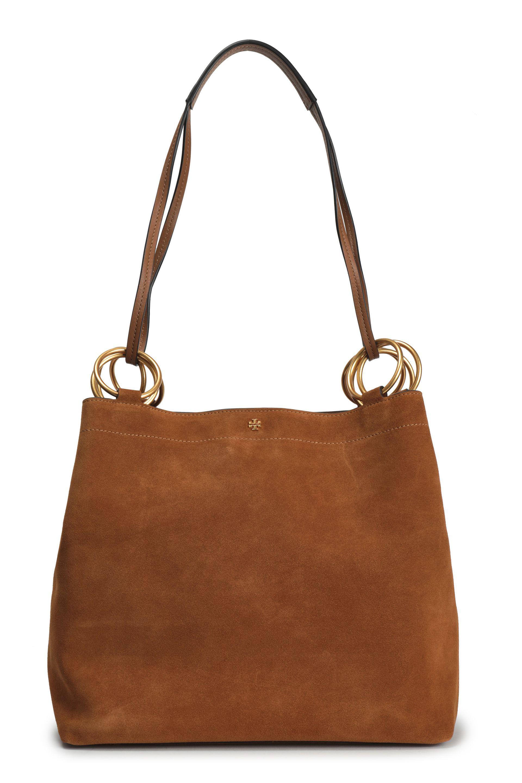 946cf7562901 Tory Burch Suede Shoulder Bag in Brown - Lyst