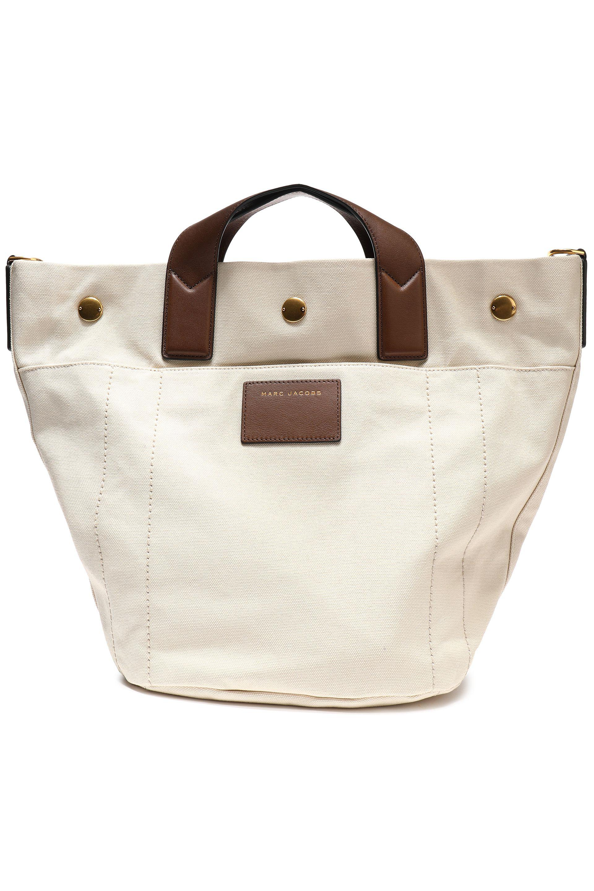 34b8cdf36762 Marc Jacobs Leather-trimmed Canvas Tote - Lyst