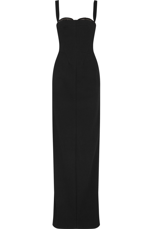 Amanda Wakeley Woman Valley Draped Silk Dress Midnight Blue Size 14 Amanda Wakeley in5Cv3N