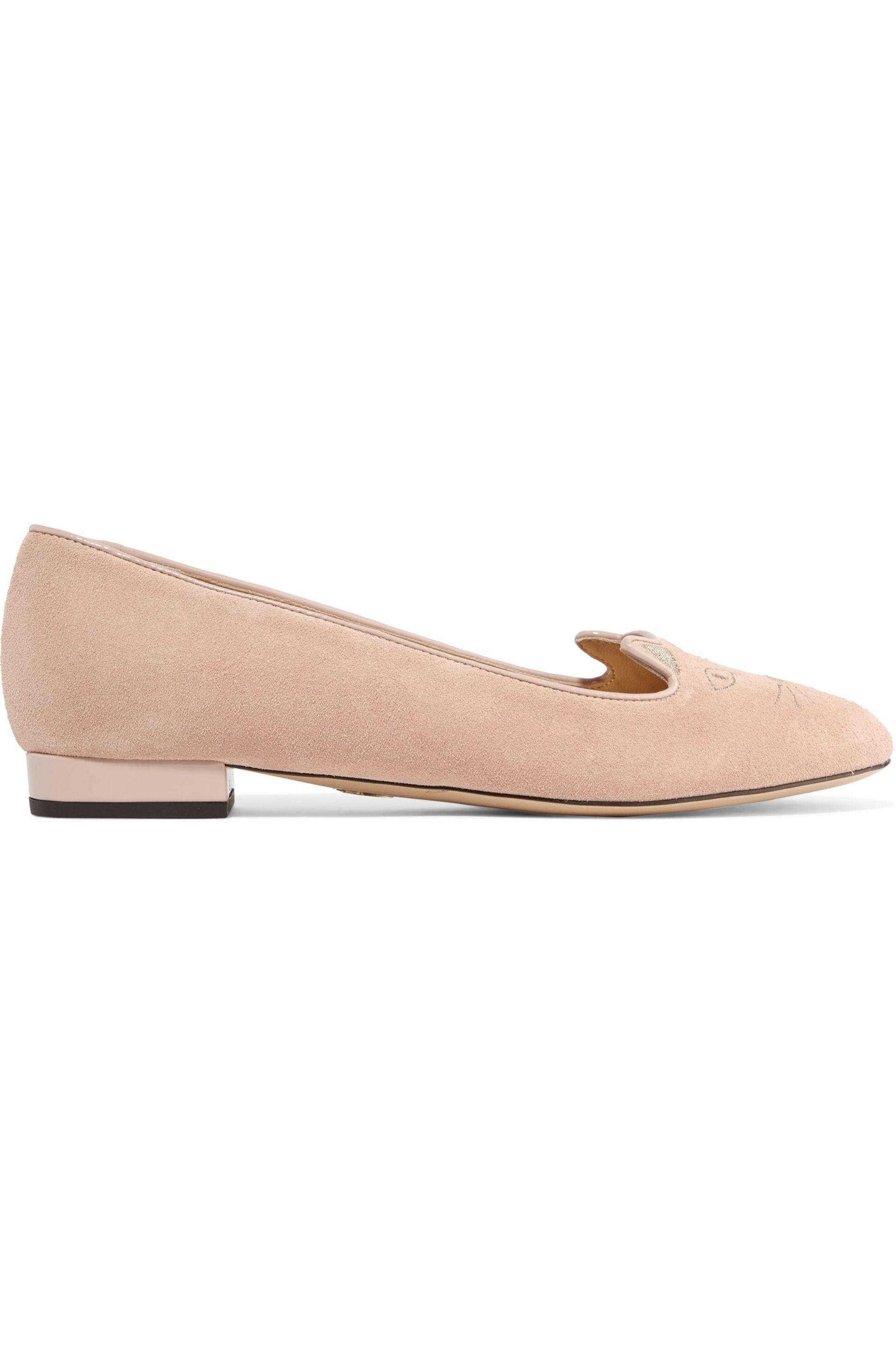 Charlotte Olympia Suede Ballet Flats