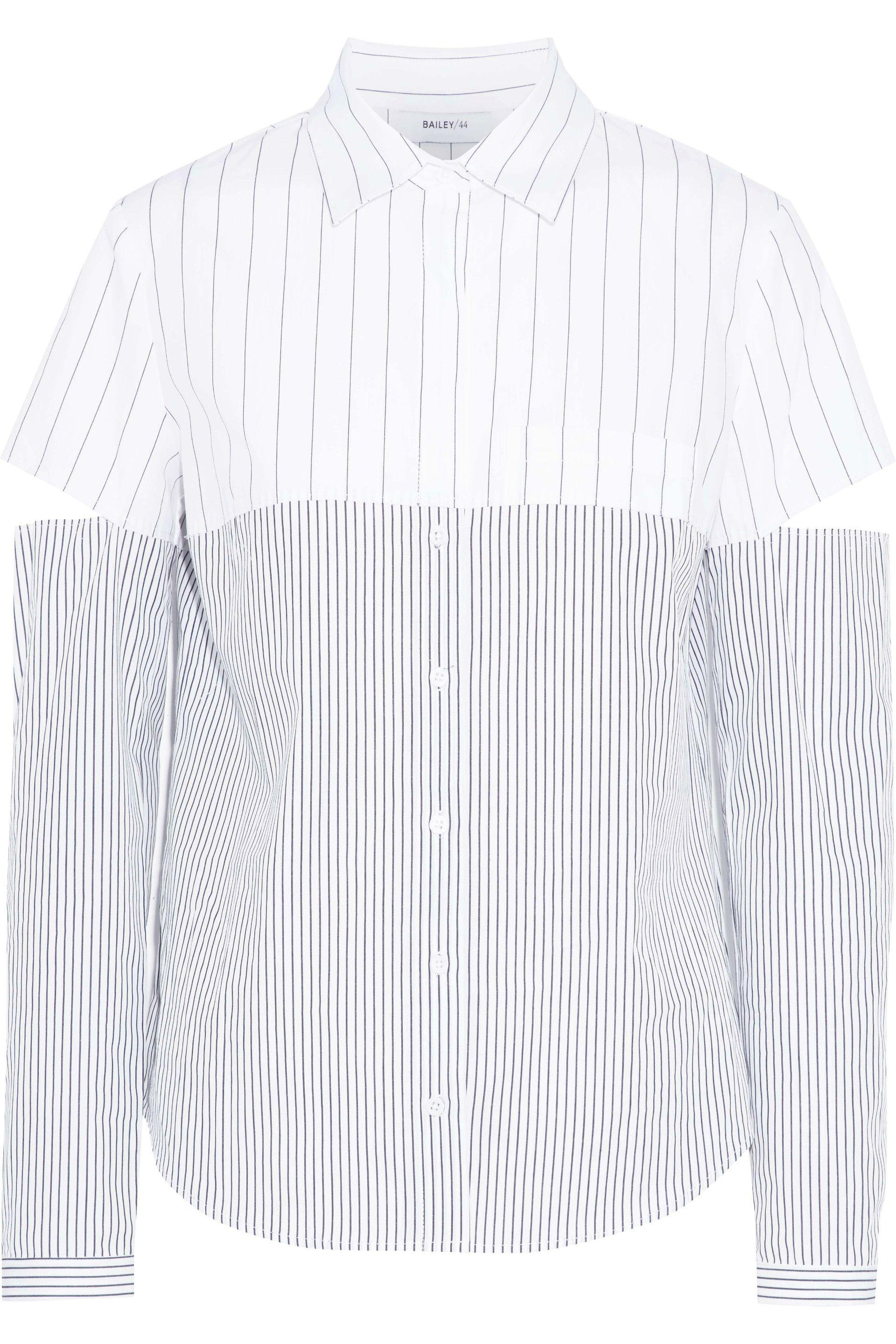 Buy Cheap Pay With Visa Bailey 44 Woman Cutout Paneled Striped Cotton-poplin Shirt White Size M Bailey 44 Outlet Fake With Paypal For Sale u0Oi9