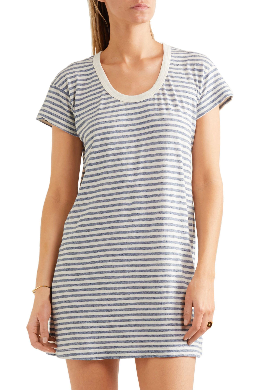 096e35cd79 Lyst - Current Elliott Striped Mini Dress in Blue