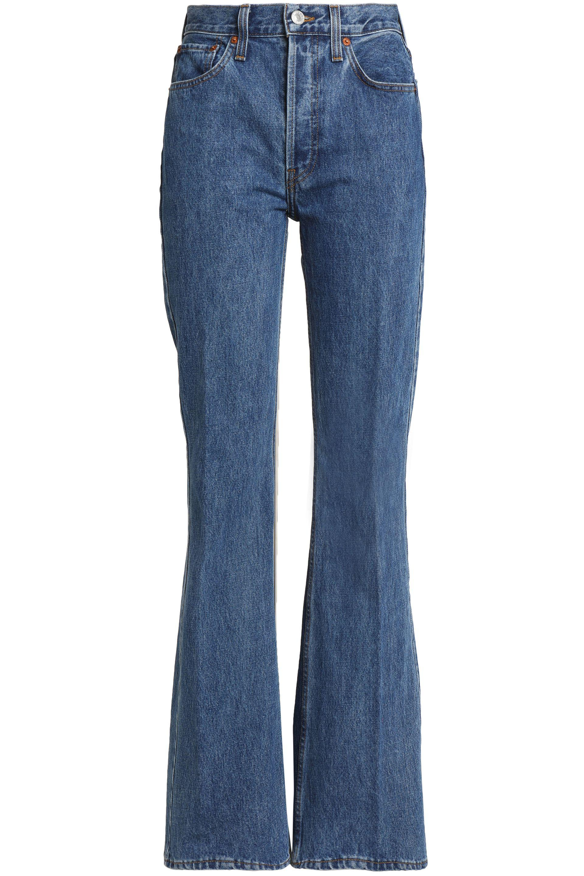 1a02fd55a8d RE/DONE High-rise Bootcut Jeans Mid Denim in Blue - Lyst