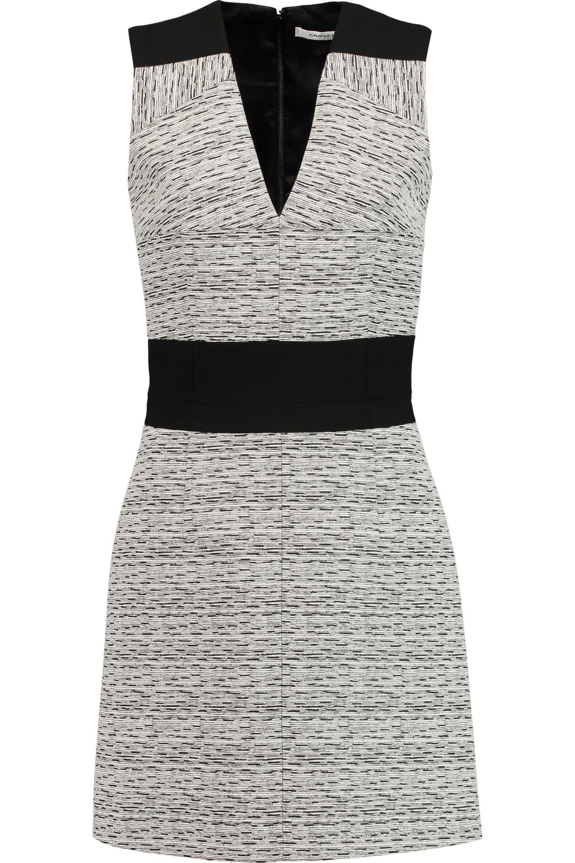 Carven Woman Cotton-blend Jersey Mini Dress Black Size M Carven rb6xi