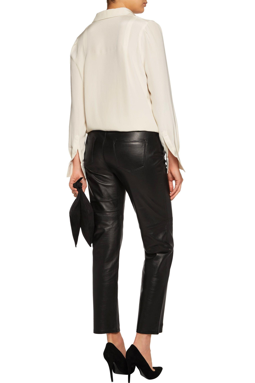 6409d7c6d2f2 Lyst - J Brand Casey Leather Straight-leg Pants in Black