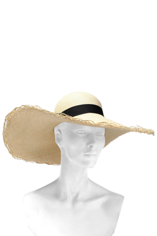 e0b8bade3dc96 Sensi Studio Woman Bow-embellished Toquilla Straw Sun Hat Beige in ...