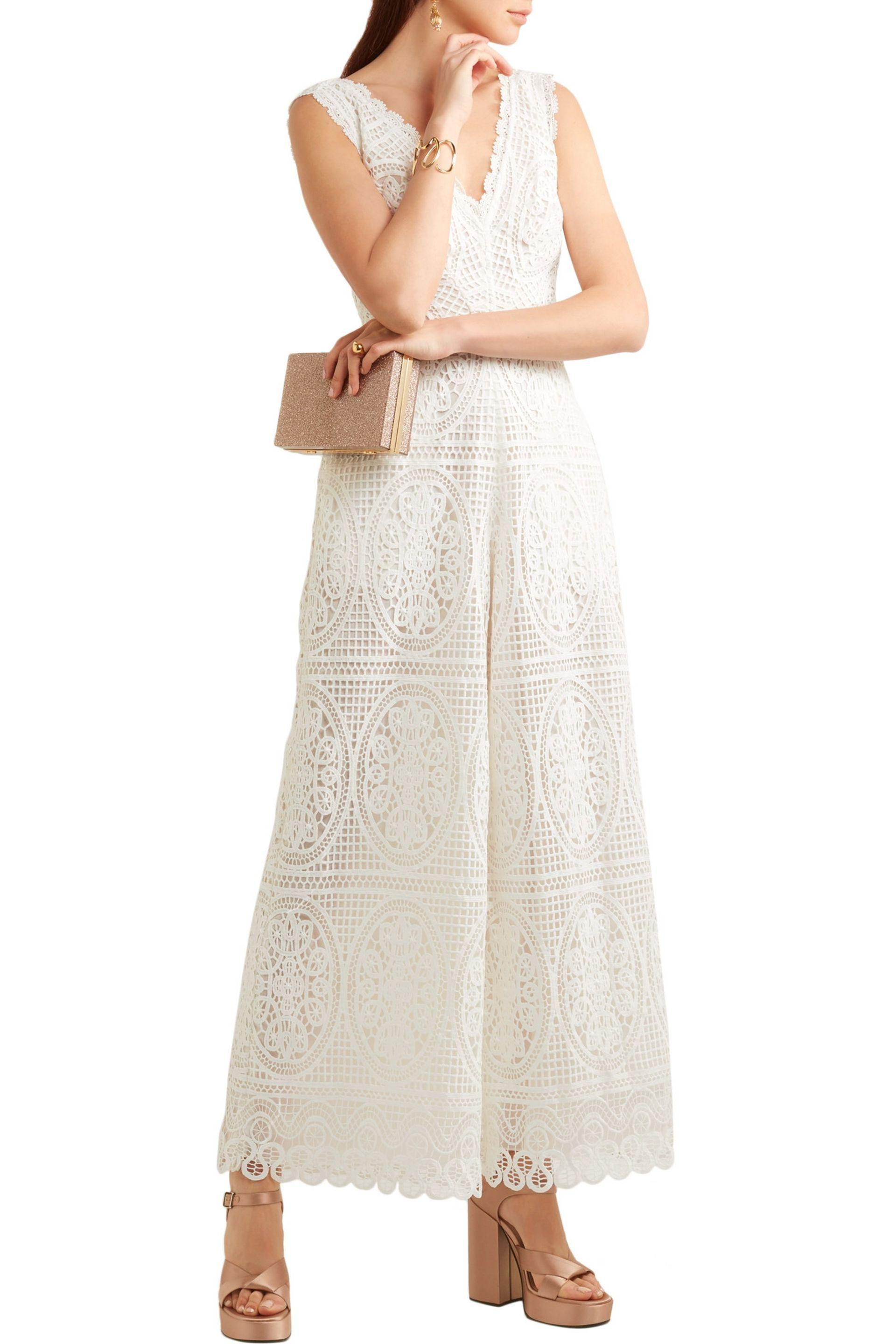 4756c8db080c Lyst - Temperley London Woman Guipure Lace Jumpsuit White in White