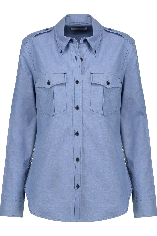 Étoile Isabel Marant. Women's Blue Wandy Cotton-chambray Shirt