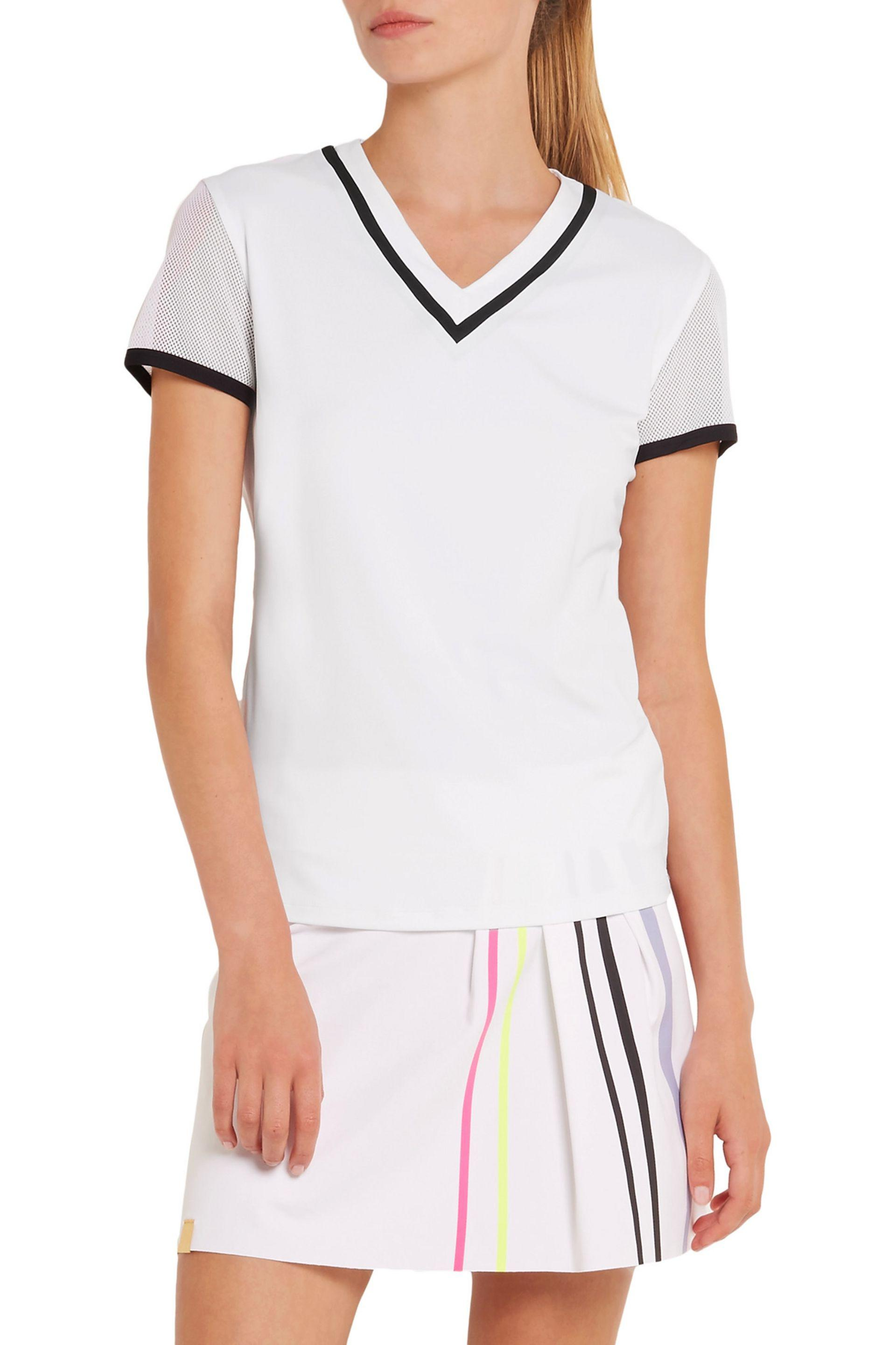 Monreal London | White Net Gains Stretch-jersey And Mesh T-shirt | Lyst.  View Fullscreen