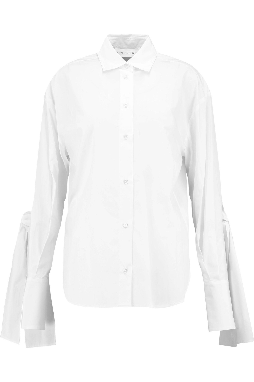 Womens Poplin Ruffle-Trimmed Shirt Robert Rodriguez Clearance Latest qNN1t
