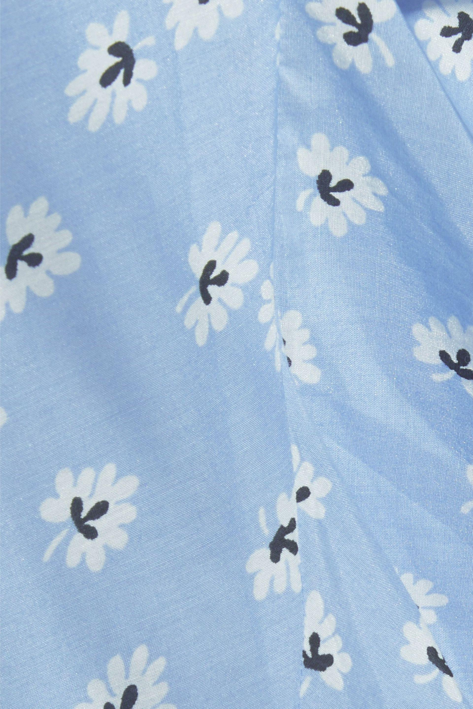 c1118cdeb3 Ganni Woman Ruffled Floral-print Cotton And Silk-blend Midi Wrap ...