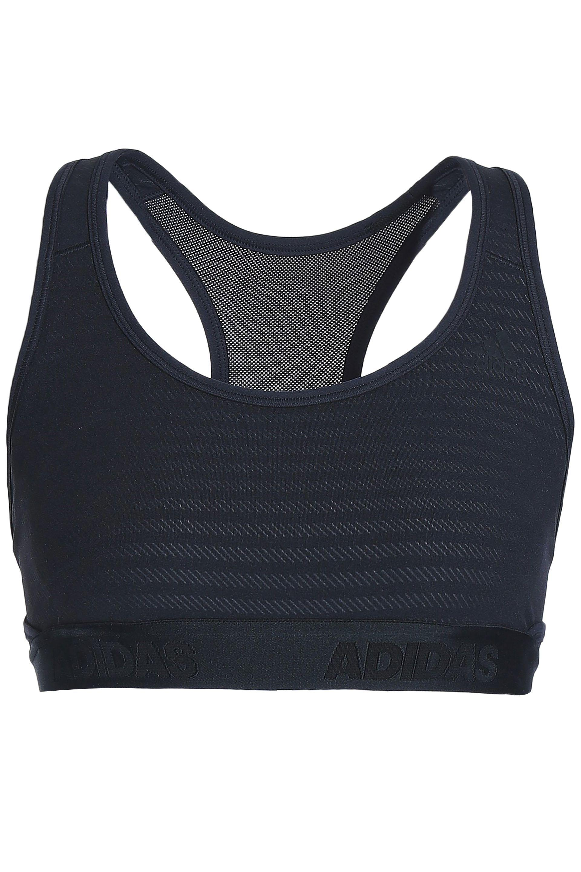 4a0ef1d44c Adidas Mesh-paneled Stretch-jersey Sports Bra in Black - Lyst