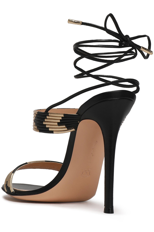 813f1dbd4ff Lyst - Gianvito Rossi Woman Suni Matte And Metallic Leather Sandals ...