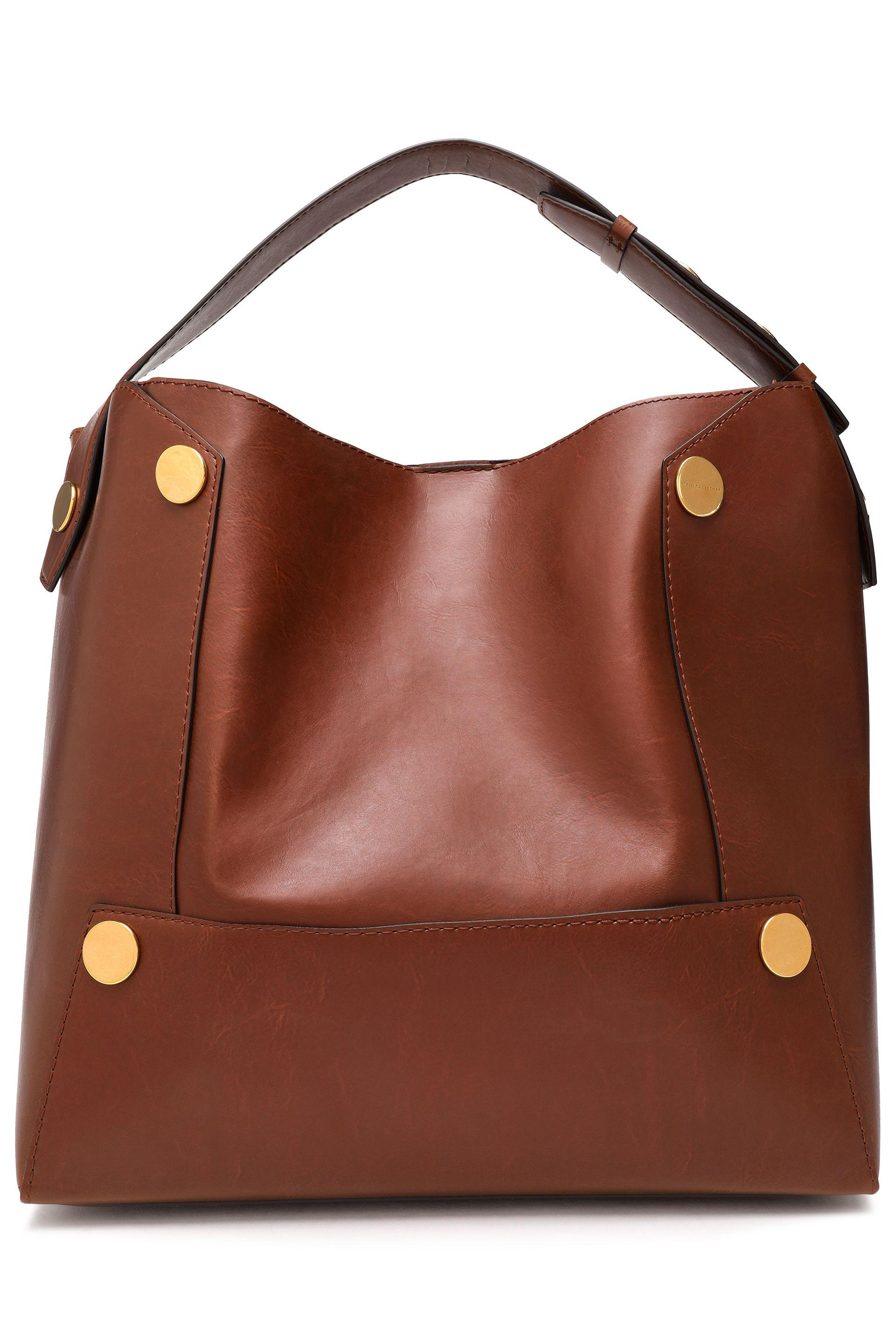 f2490315b7c6 Stella McCartney Woman Embellished Faux Leather Tote Brown in Brown ...