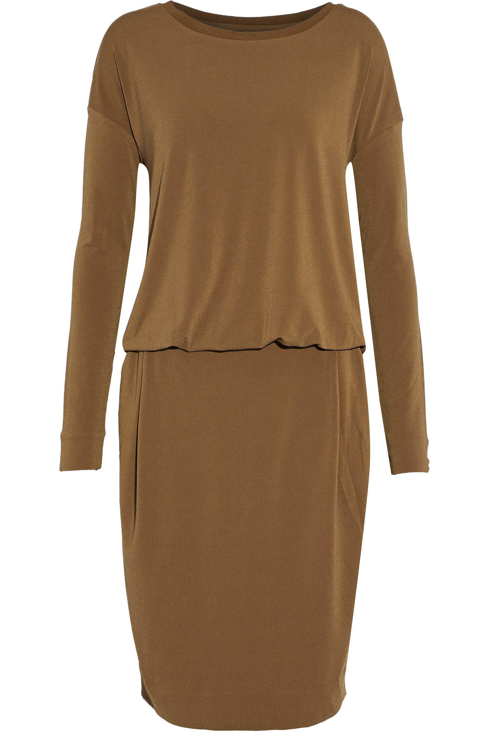 By Malene Birger Woman Cutout Draped Stretch-crepe Dress Light Brown Size M By Malene Birger Avdgwi31