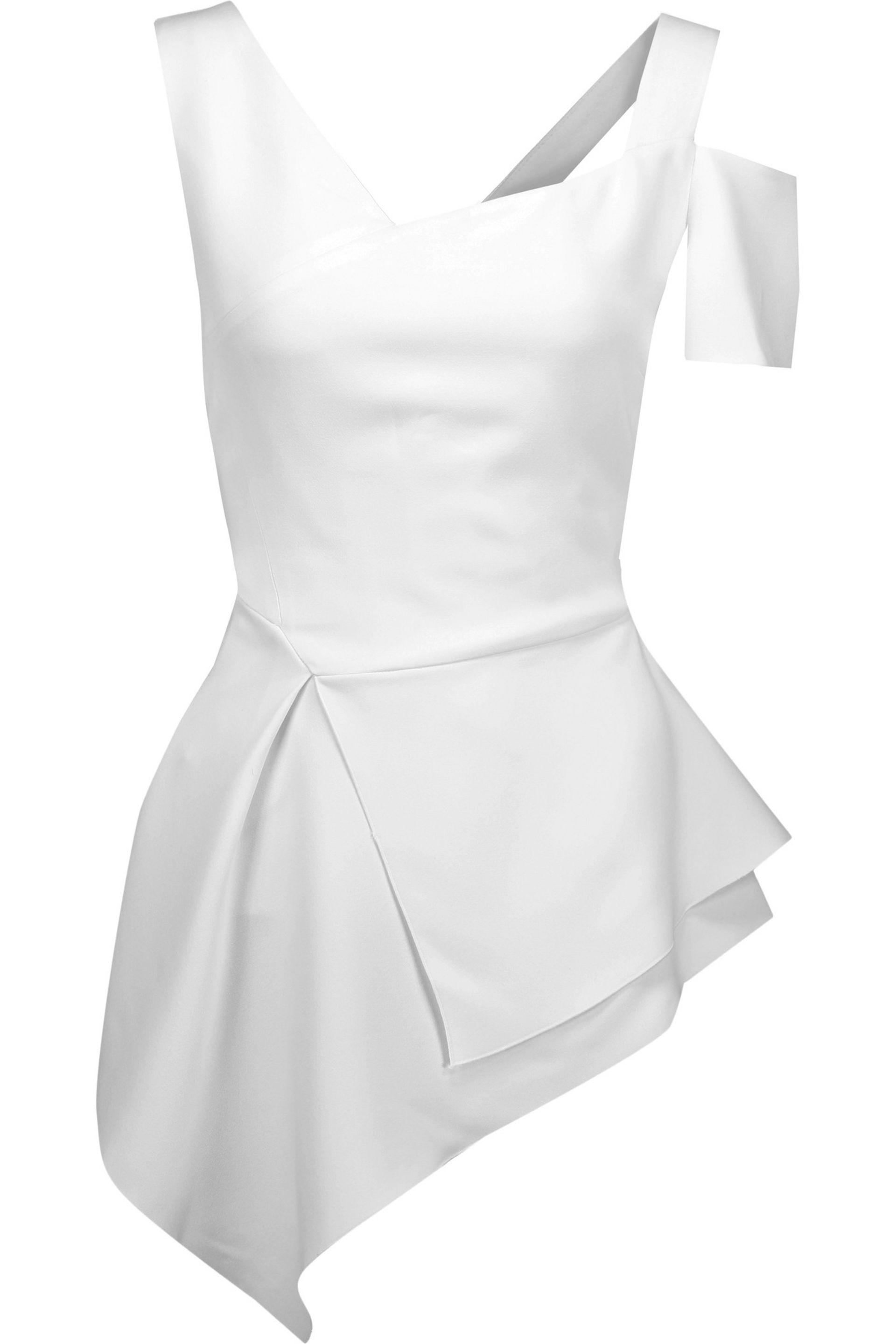 Antonio Berardi Woman Asymmetric Crepe Top White Size 40 Antonio Berardi Low Cost Al8vQcZd