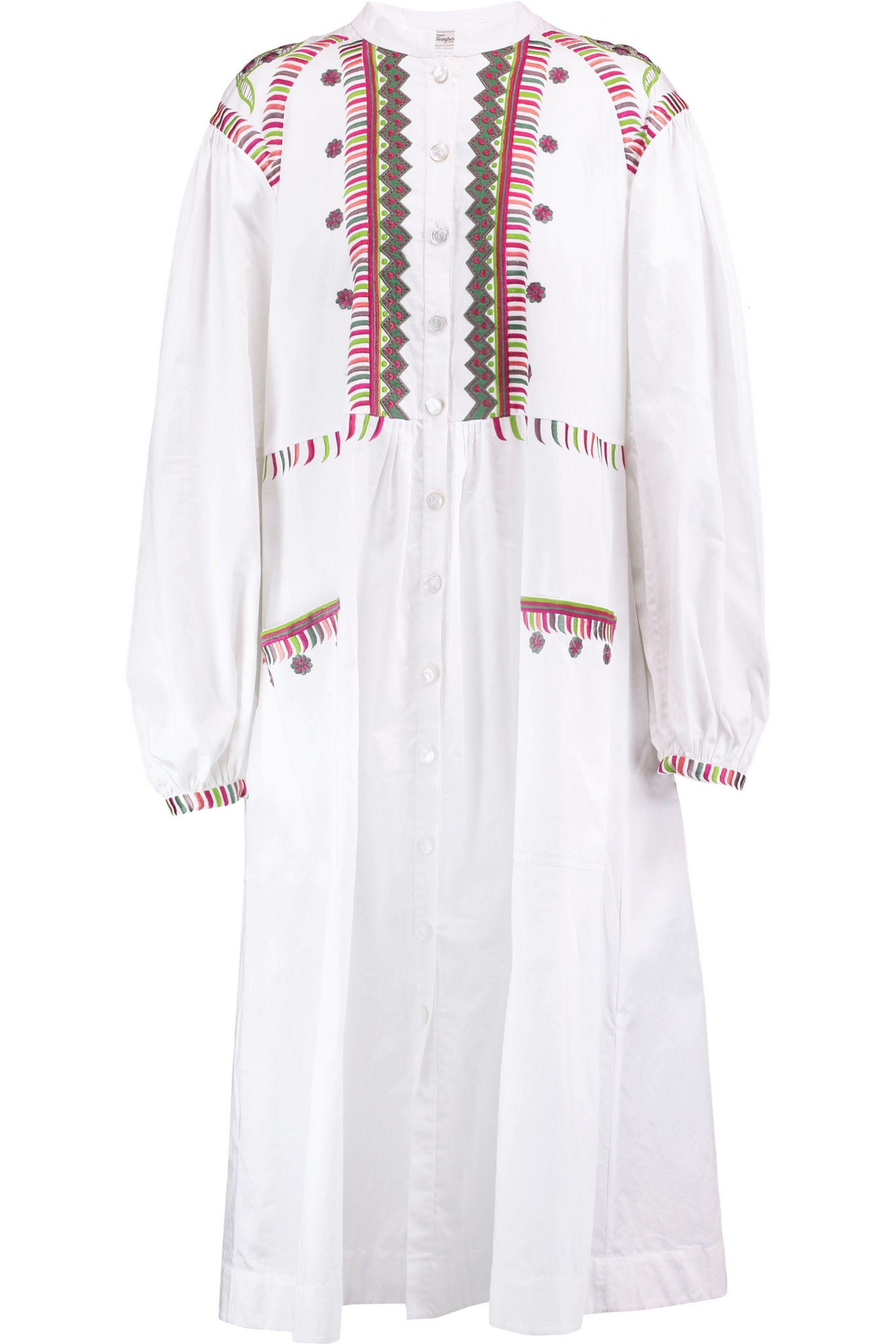 Outlet Release Dates Cheap Sale Outlet Store Temperley London Woman Fable Embroidered Cotton Midi Dress White Size 10 Temperley London Cheap Shop For DJX6r5j