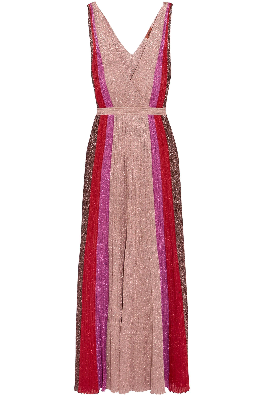8afcc67b99857 Missoni Woman Wrap-effect Striped Crochet-knit Maxi Dress Antique ...