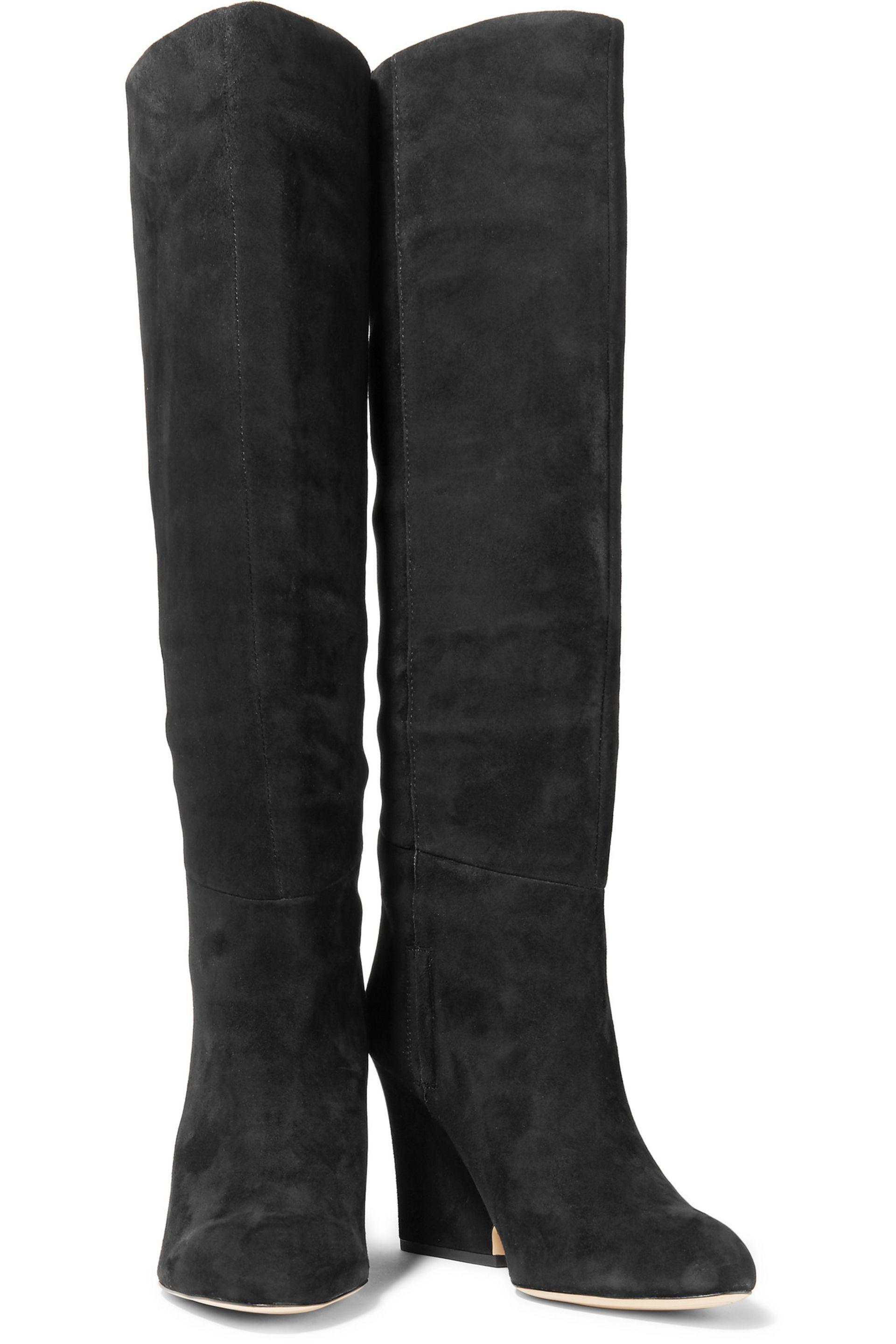 cd21d1afb Sam Edelman Whitney Suede Knee Boots in Black - Lyst