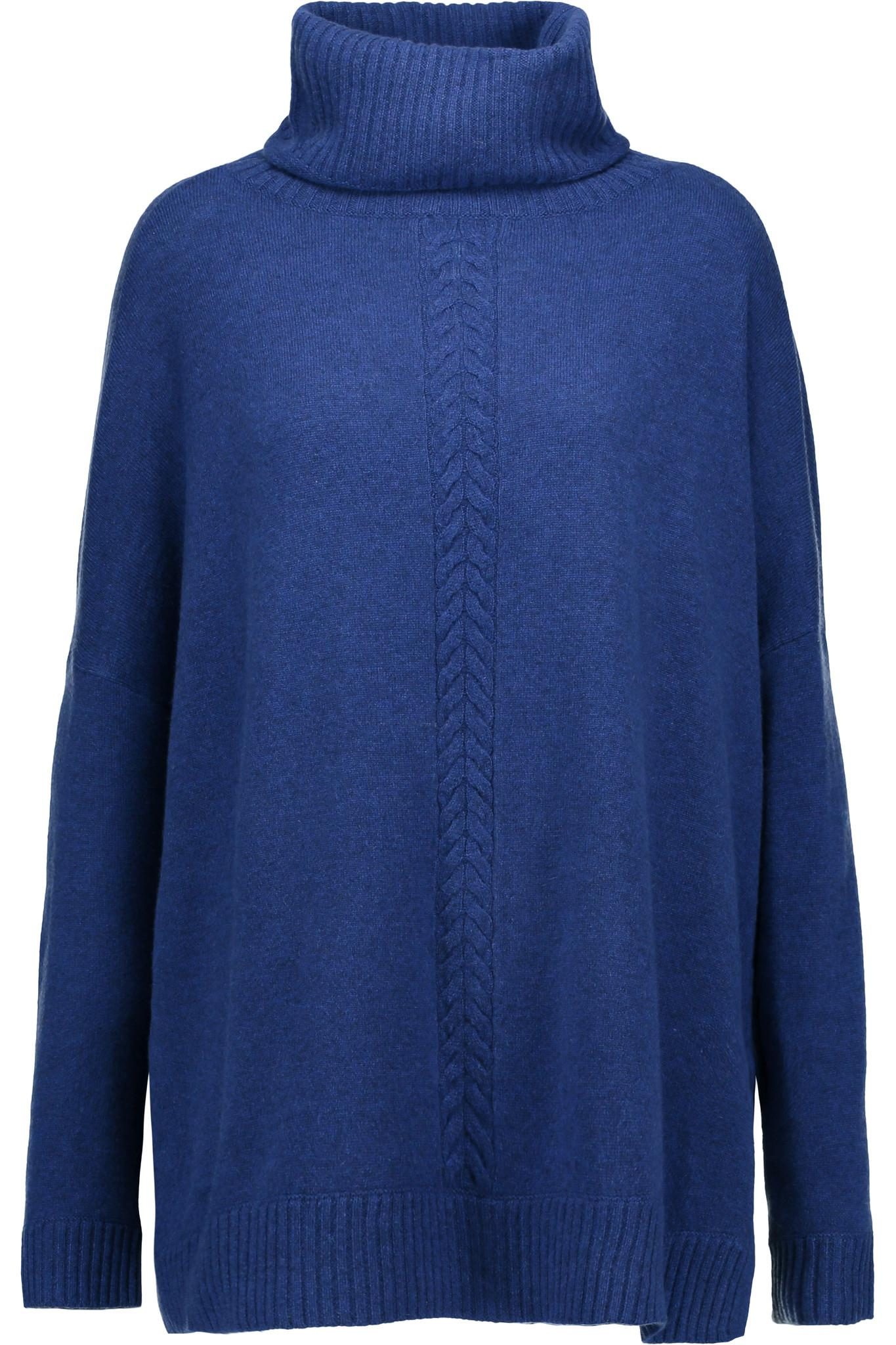 Magaschoni Cashmere Turtleneck Sweater in Blue | Lyst