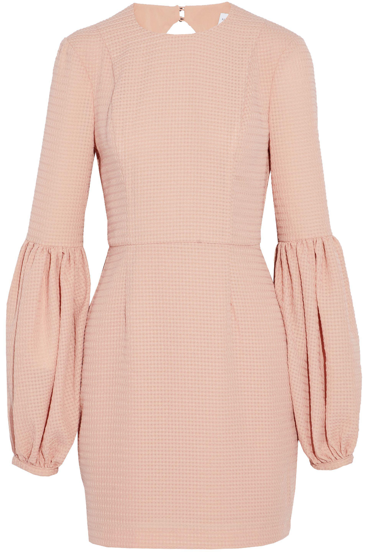 Rebecca Vallance Woman Cutout Gathered Jacquard Mini Dress Baby Pink Size 10 Rebecca Vallance ot3eVIKS