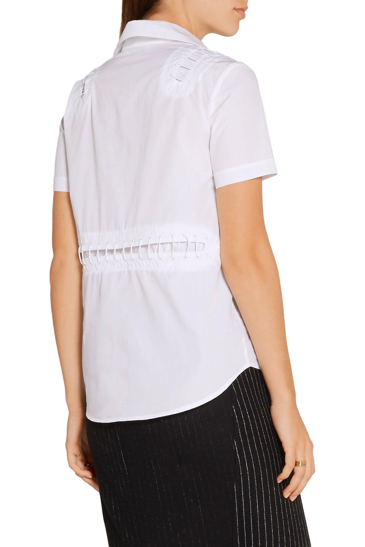 Tim Coppens | White Embellished Cotton-poplin Shirt | Lyst. View Fullscreen