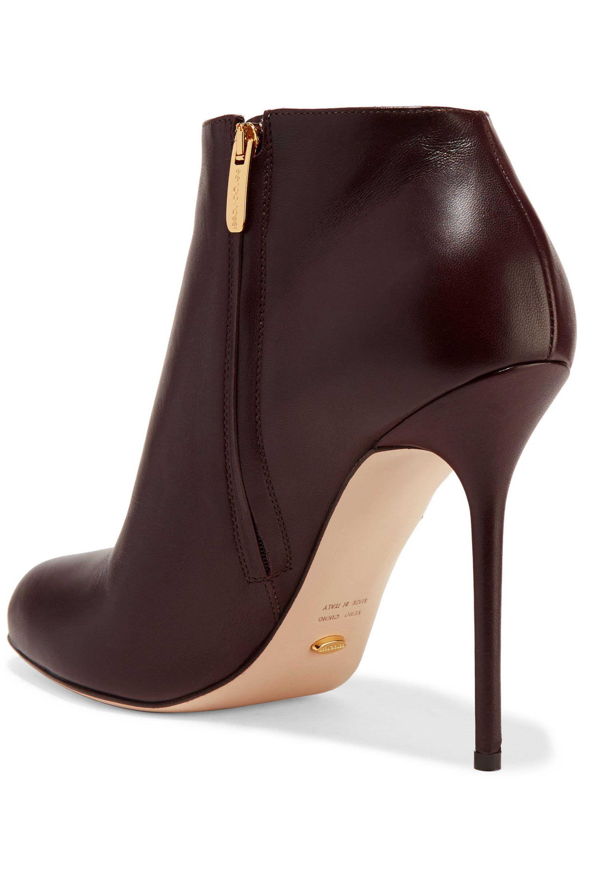 13aae37139e6 Lyst - Sergio Rossi Leather Ankle Boots in Brown