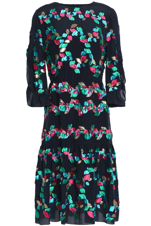 Peter Pilotto Woman Jacquard-knit Wool-blend Midi Dress Navy Size XL Peter Pilotto nLEit3zmu