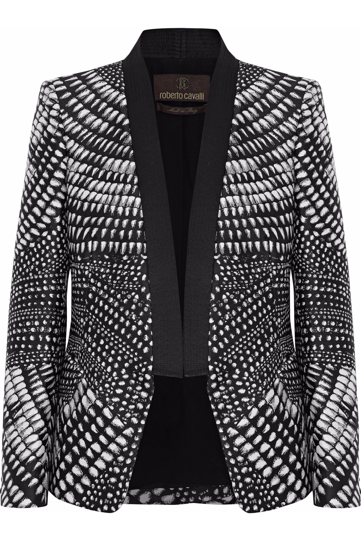 Roberto Cavalli - Black Printed Duchesse-satin Blazer - Lyst. View  Fullscreen