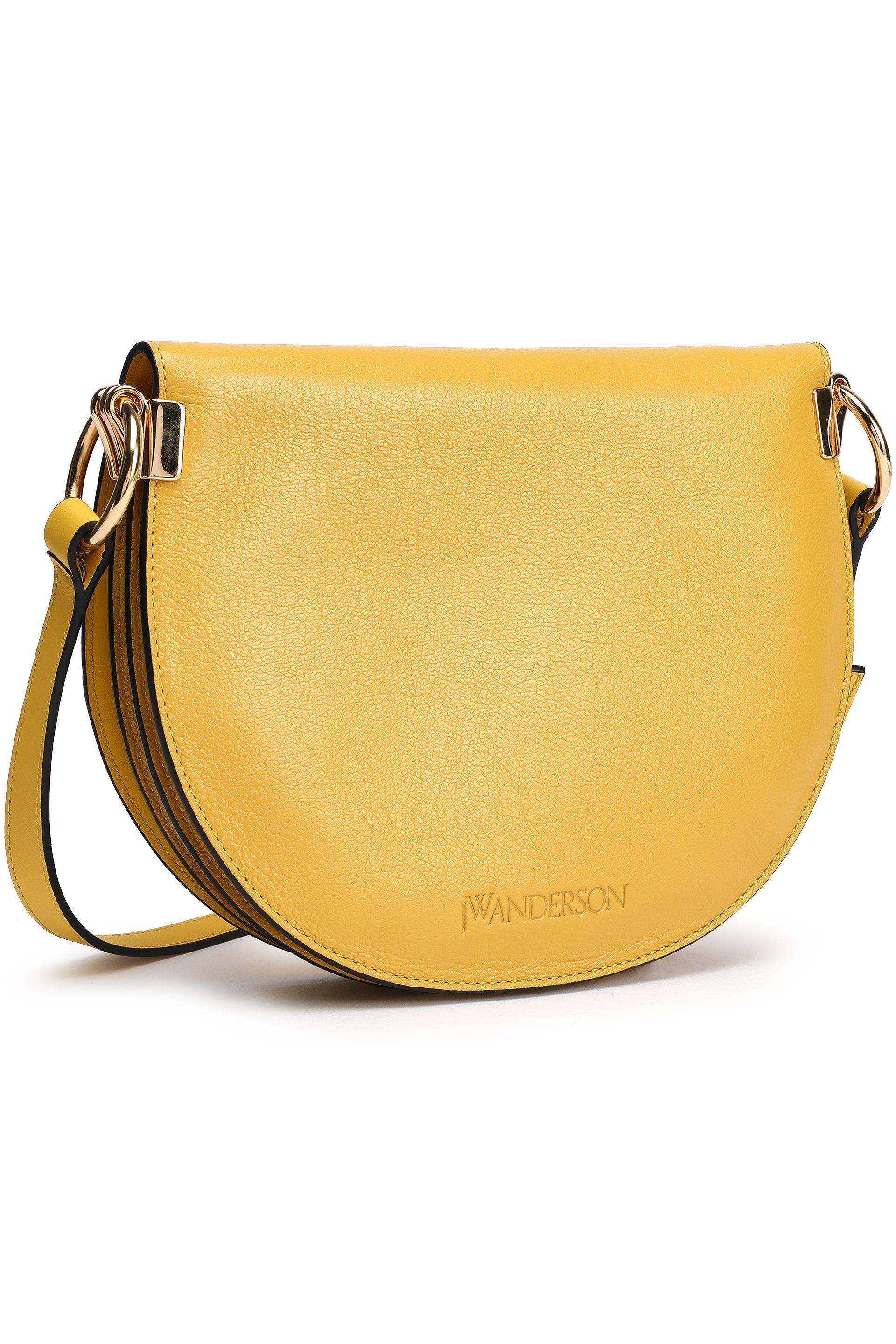 12a52309e0a Lyst - JW Anderson Woman Leather Shoulder Bag Yellow in Yellow