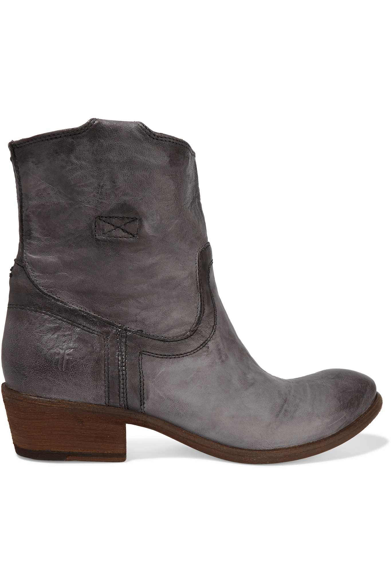 frye carson textured leather ankle boots in lyst
