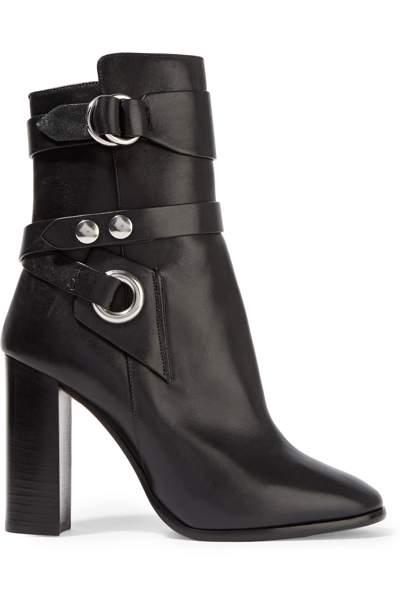 isabel marant aspeyn leather ankle boots in black lyst. Black Bedroom Furniture Sets. Home Design Ideas