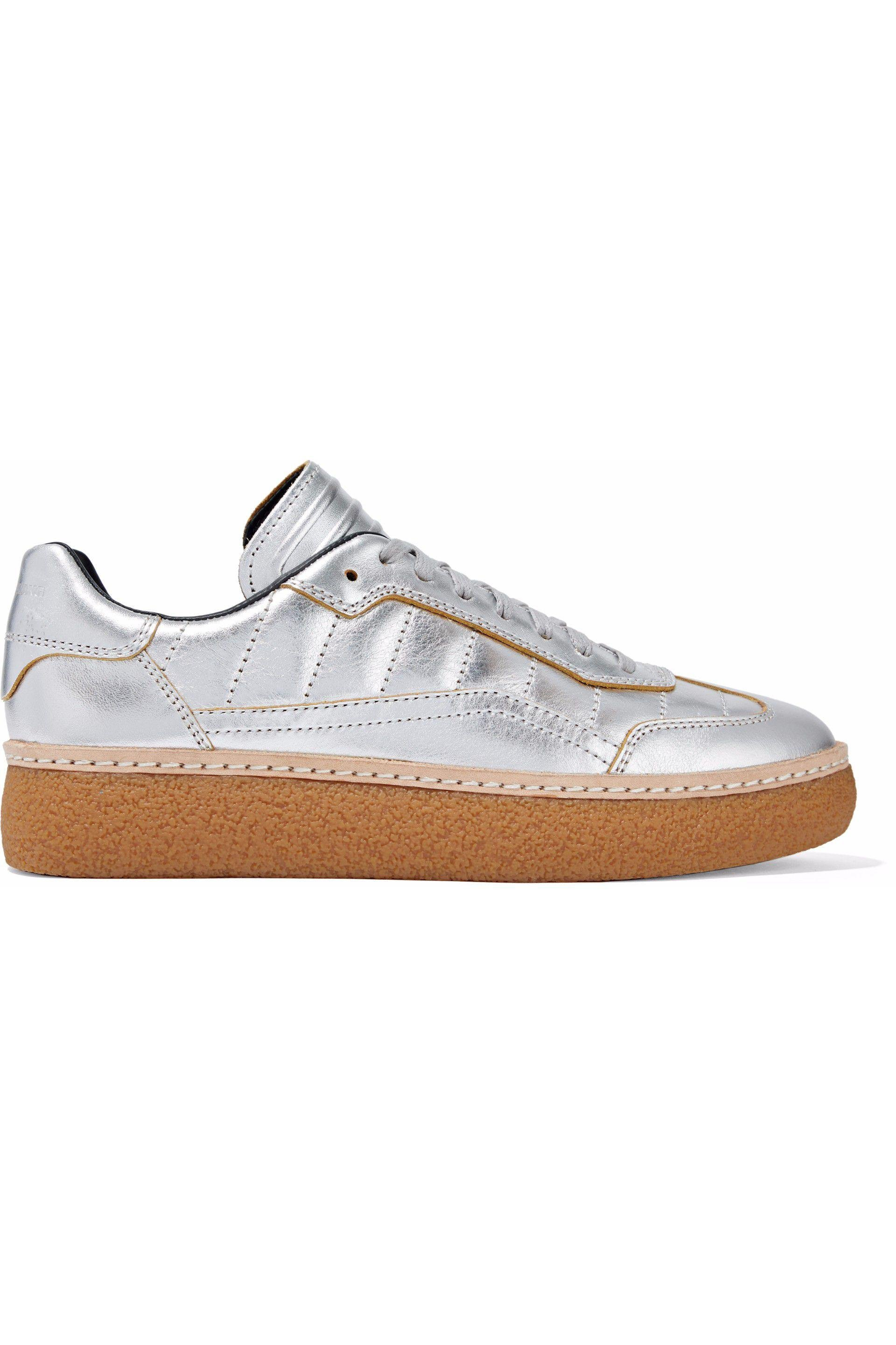 Alexander Wang Woman Metallic Quilted Leather Sneakers Size 40 y874CZbOh