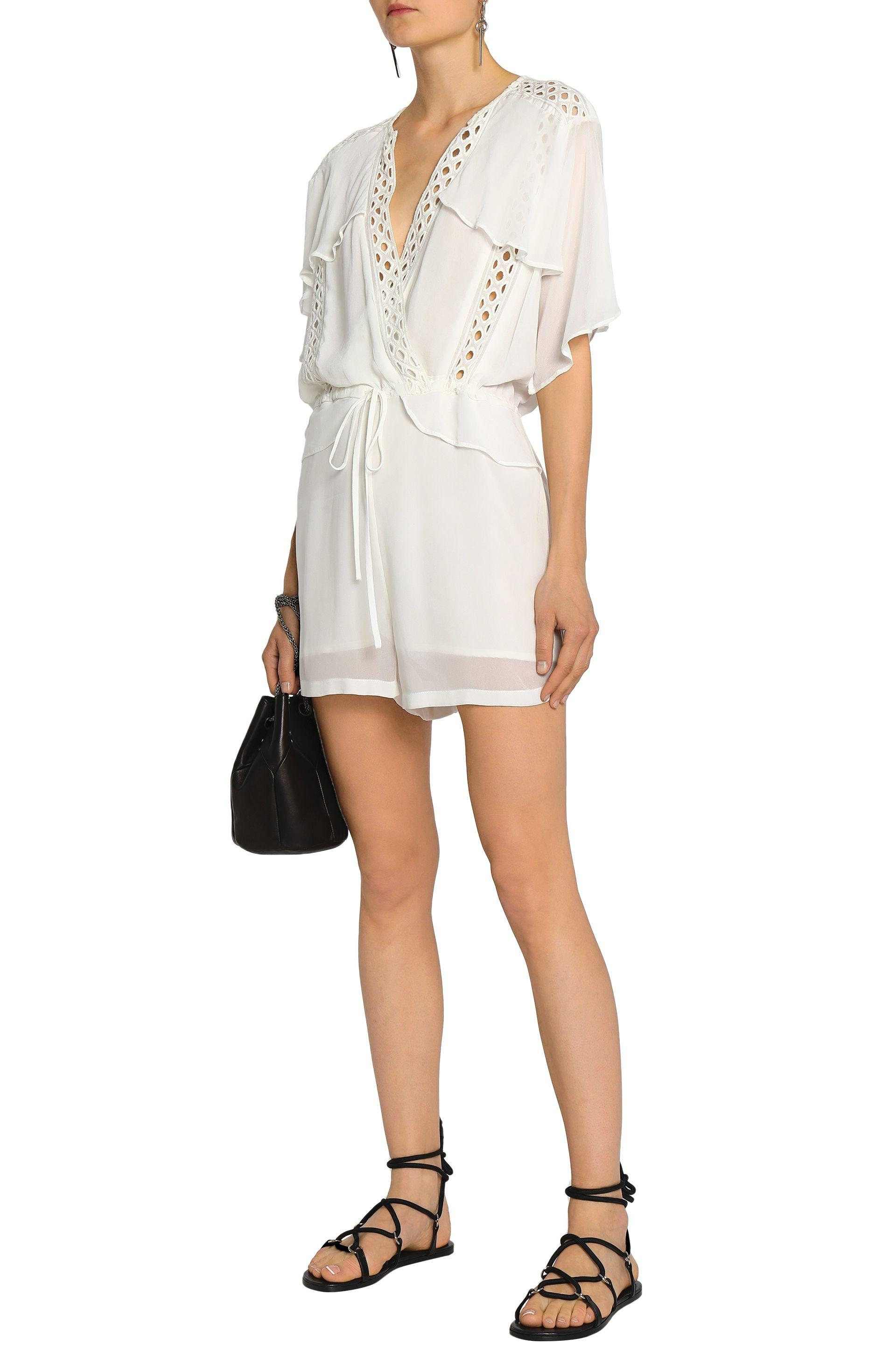 5ec2664f2684 IRO - Woman Embroidered Georgette Jumpsuit White - Lyst. View fullscreen