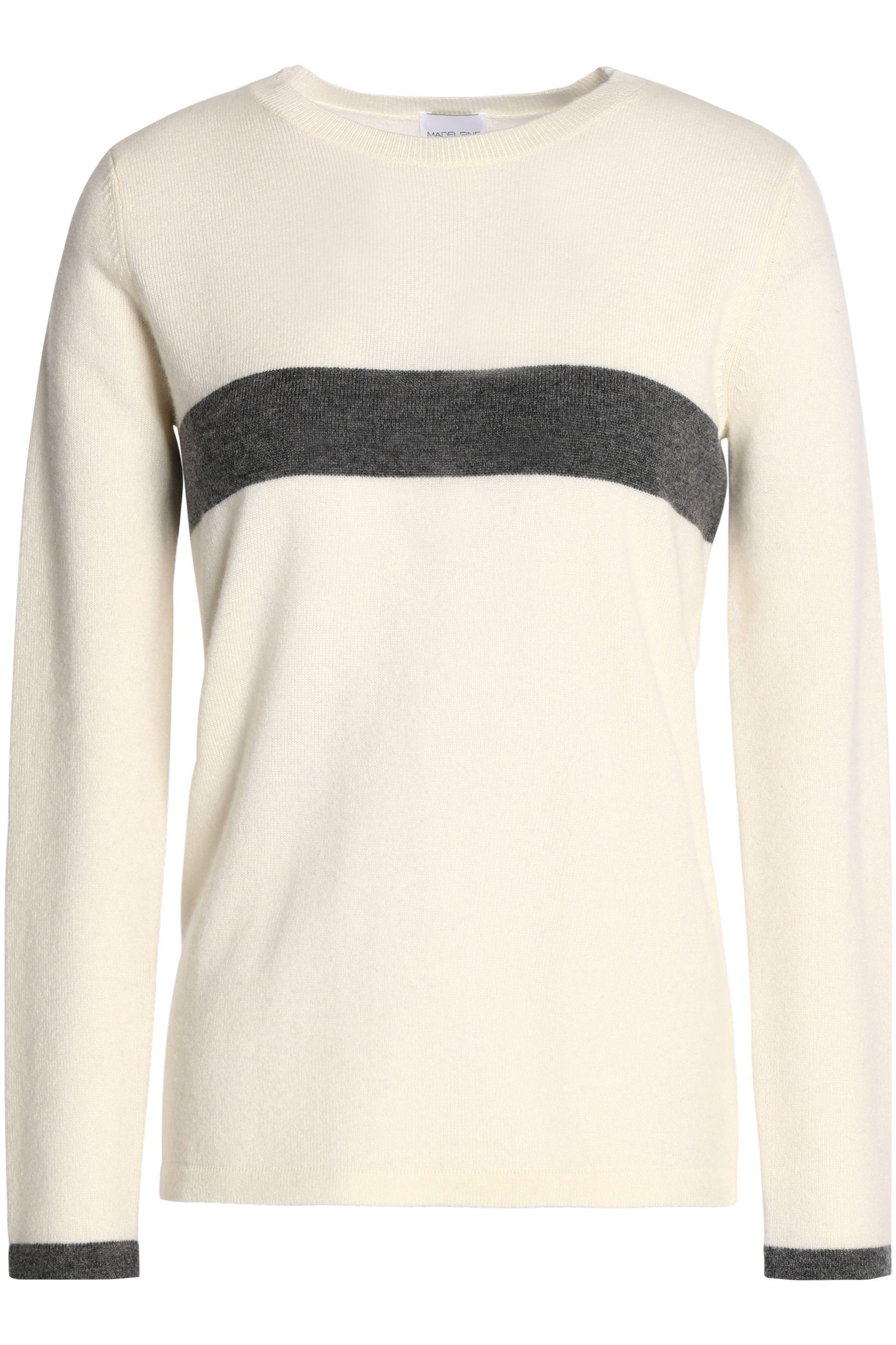 Madeleine Thompson Woman Mélange Wool And Cashmere-blend Peplum Top Cream Size XL Madeleine Thompson Shop For Online Discount Real Cool Shopping Cheap Sale Newest wR2g90Gqna