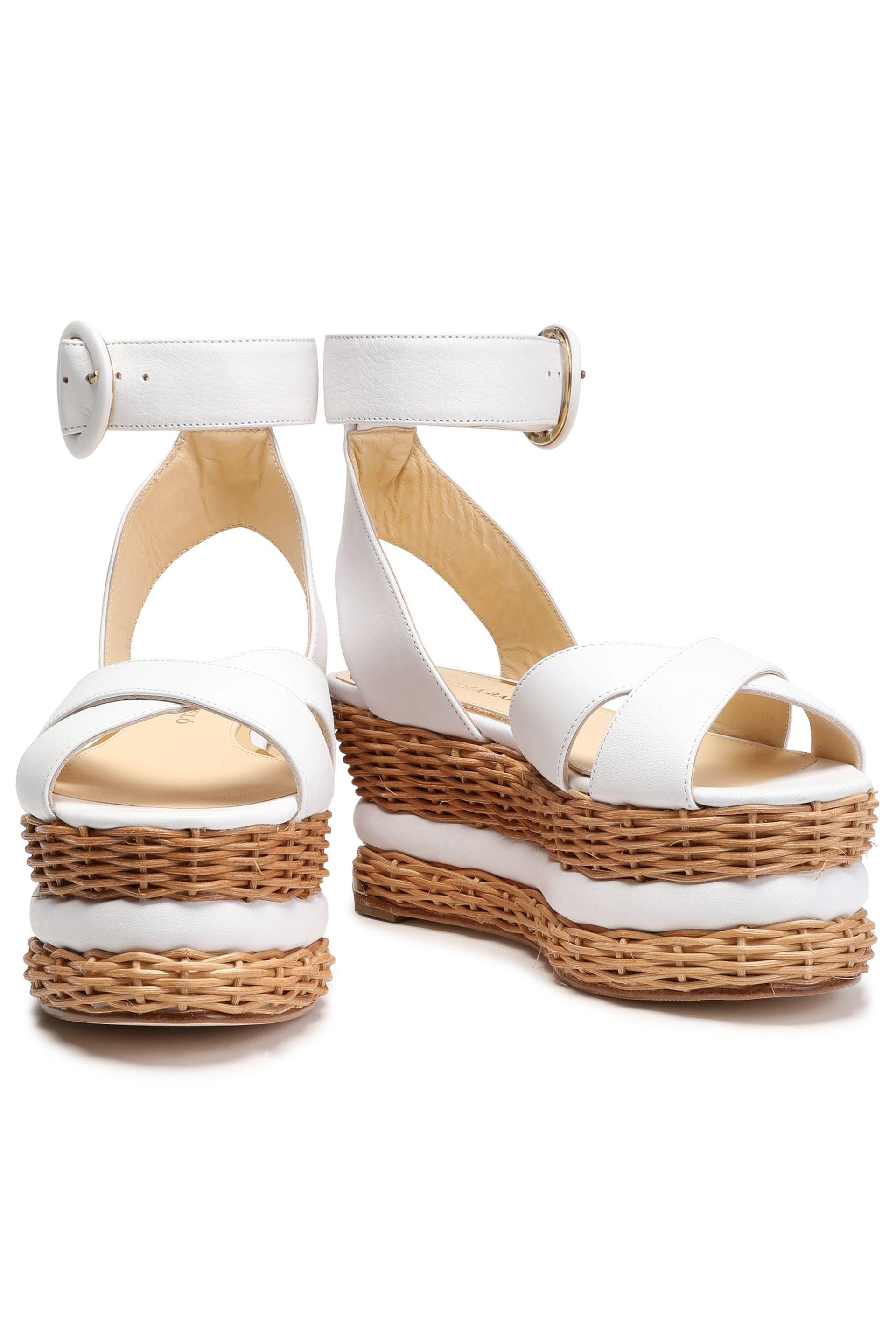 woven block heel sandals - White Paloma Barceló cTNomMvkA