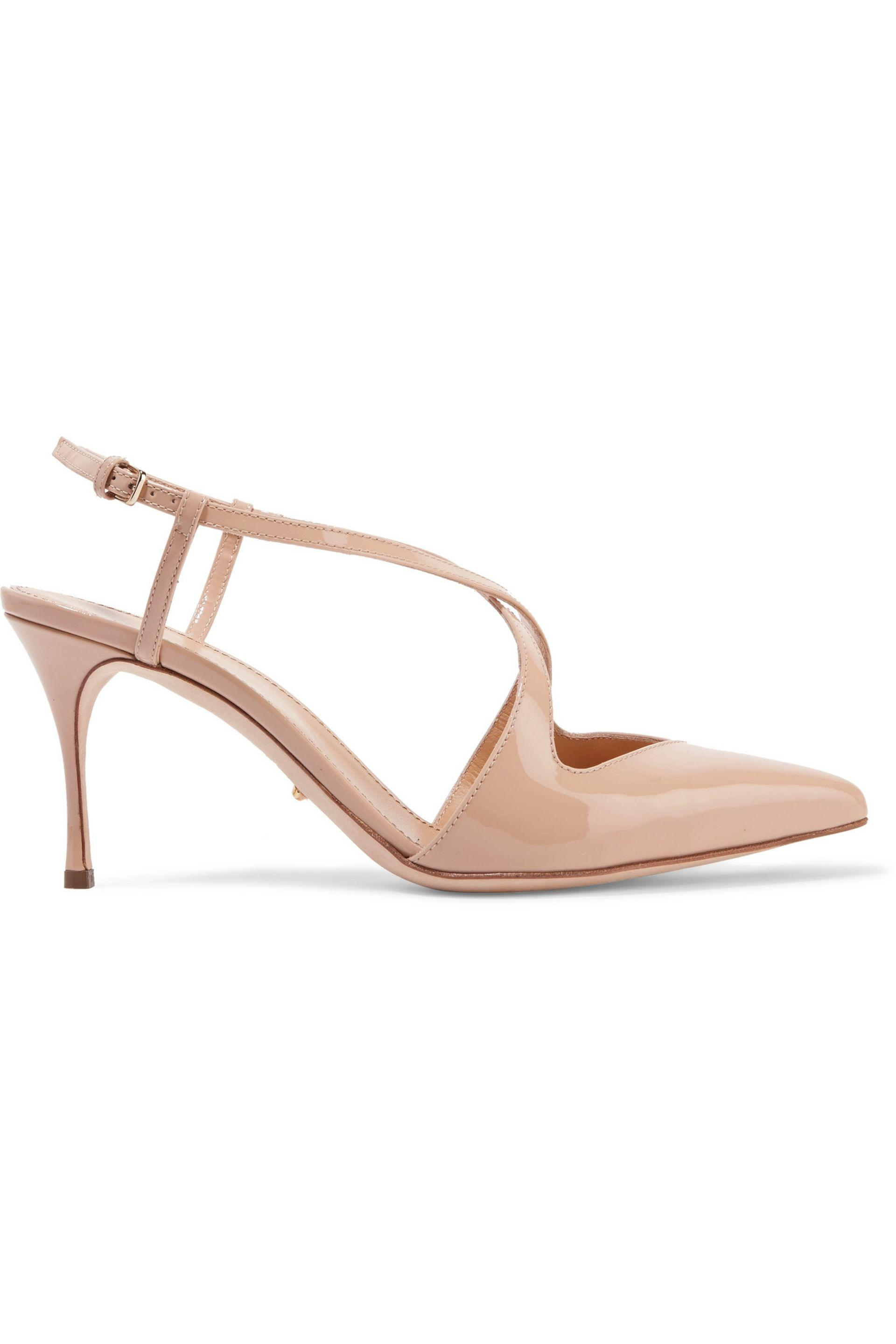 4da2d6c4ba01 lyst – sergio rossi vernice patent-leather pumps in natural. Download Image  1920 X 2880
