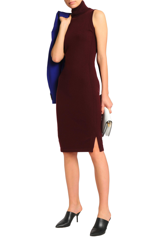 6d2ebcbc2f6e79 Autumn Cashmere - Red Cashmere Turtleneck Dress - Lyst. View fullscreen