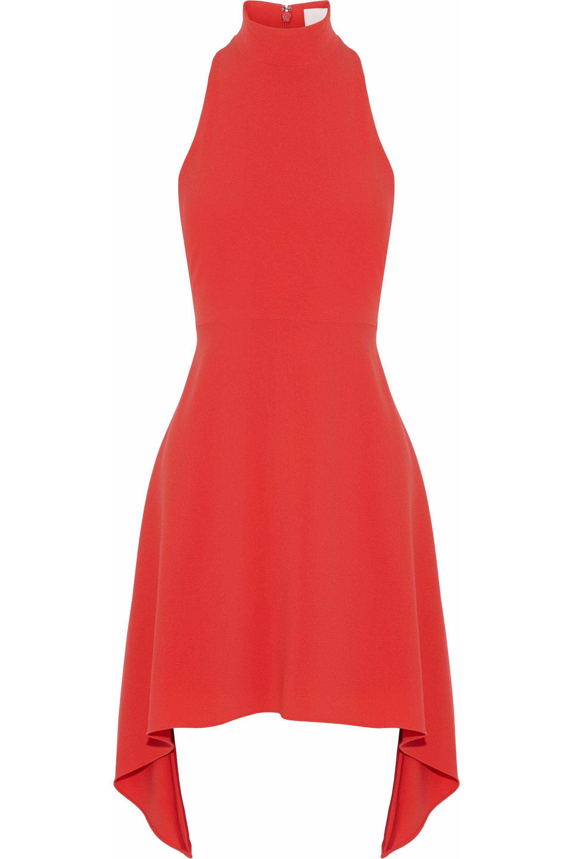 b1479e3bd17 Cinq À Sept Julia Asymmetric Cutout Crepe Mini Dress in Red - Lyst