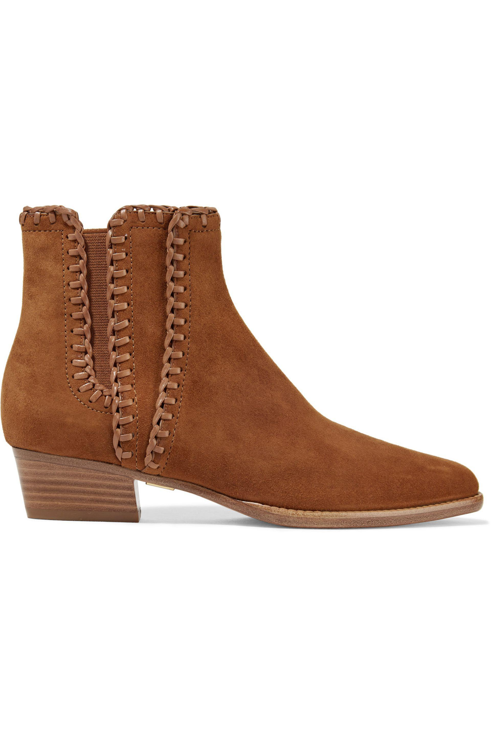 Michael Kors. Women's Brown Presley Suede Ankle Boots