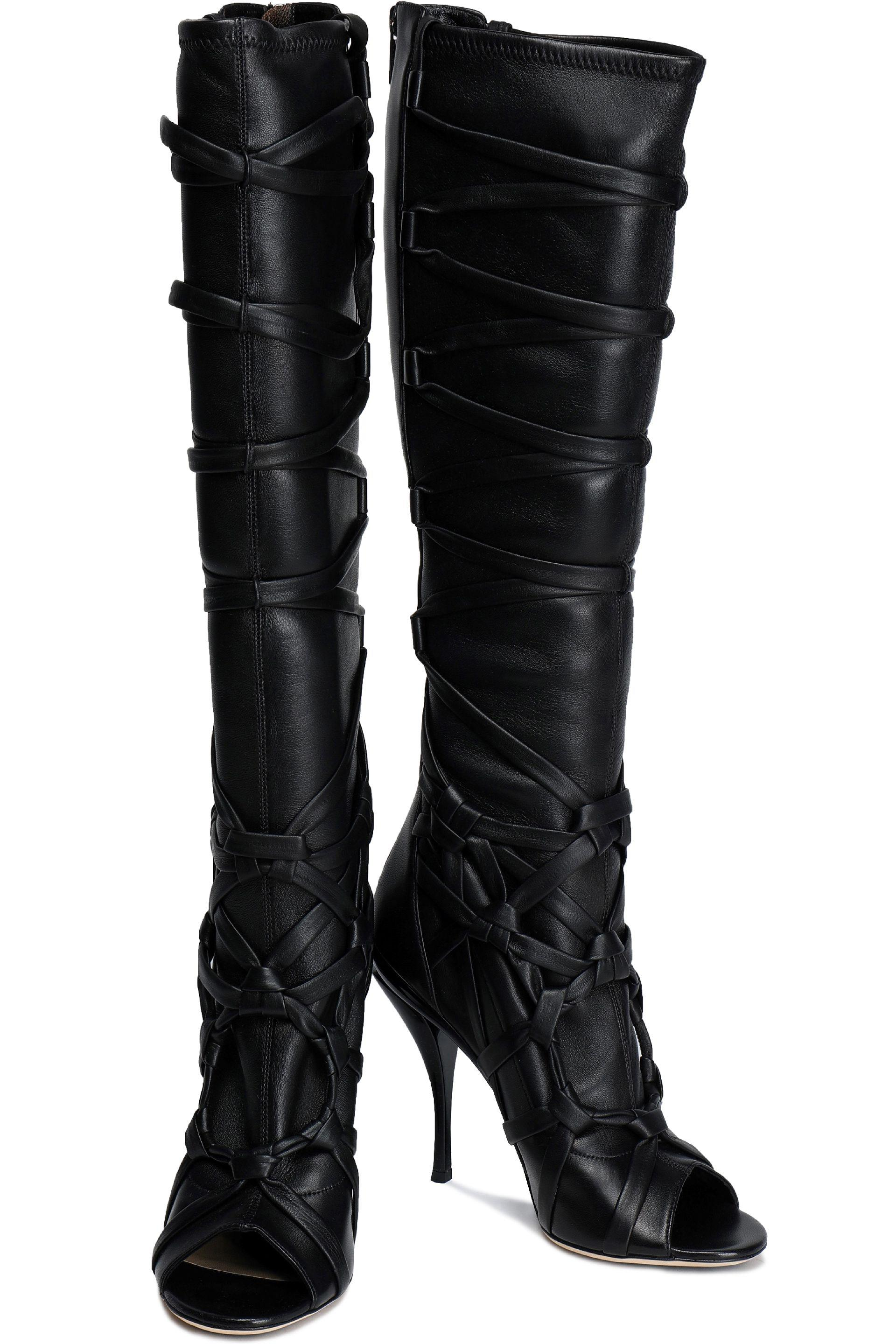 d206f8115c9 Jimmy Choo - Black Lace Up Leather Boots - Lyst. View fullscreen