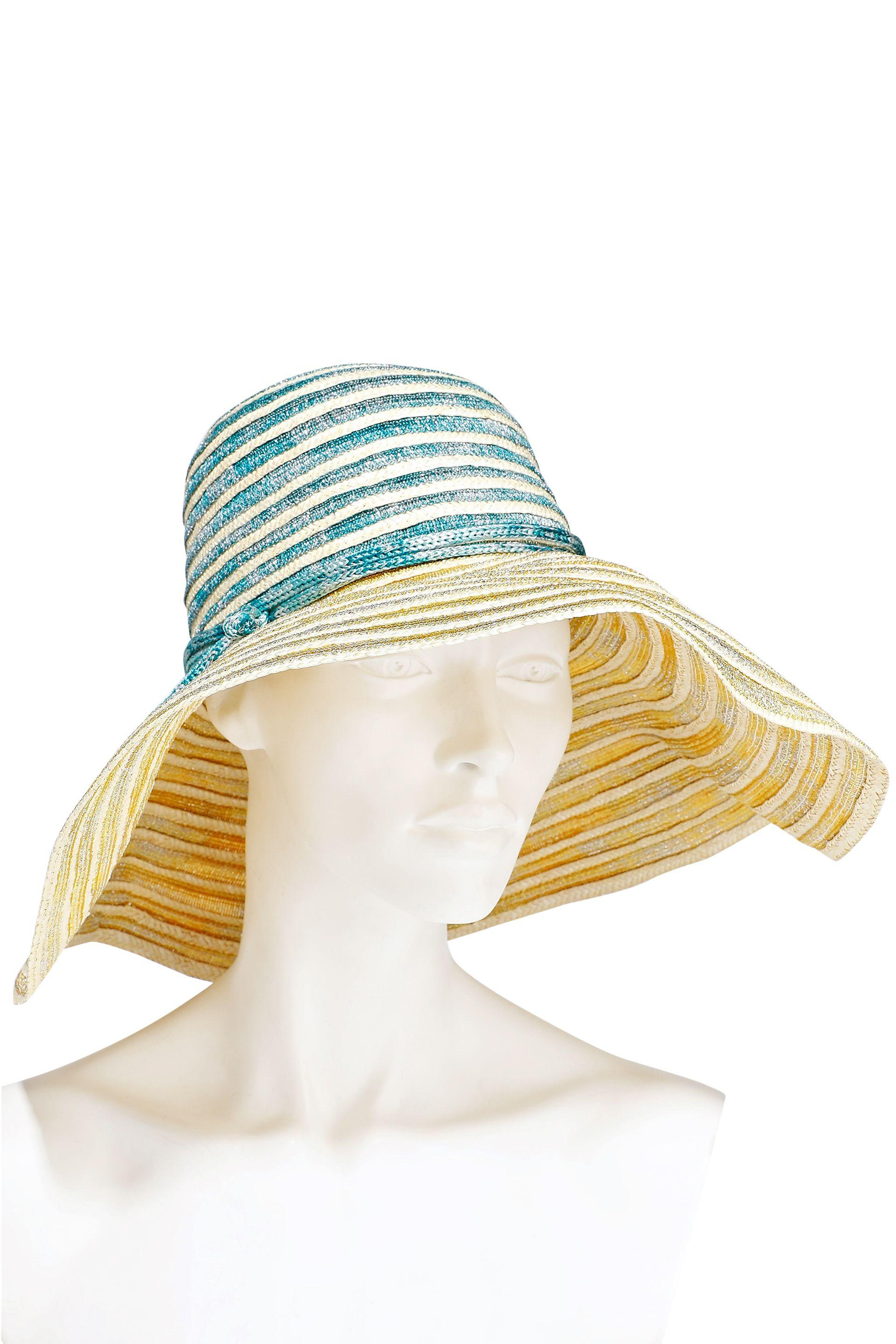 7c2975a9bd94dd Lyst - Missoni Woman Metallic Crochet-knit And Woven Straw Sunhat ...