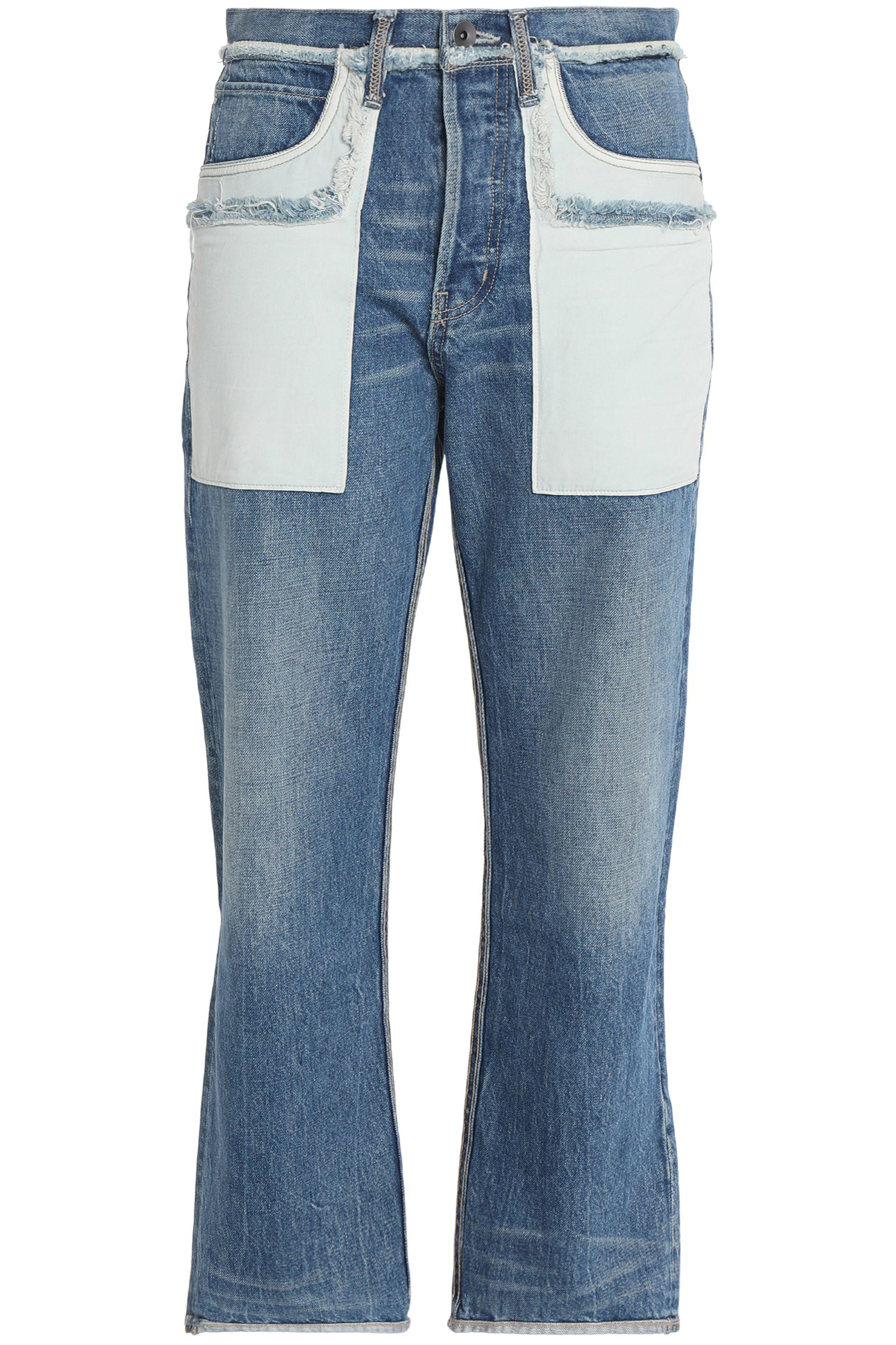 Helmut Lang Woman Faded High-rise Flared Jeans Light Denim Size 30 Helmut Lang Sale Low Shipping Eb617l