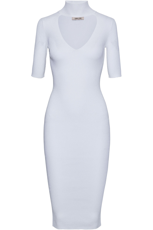Best Place Cushnie Et Ochs Woman Cutout Ribbed-knit Mini Dress Midnight Blue Size XL Cushnie et Ochs New Styles Cheap Online Outlet Latest 5GxJ4gTzH
