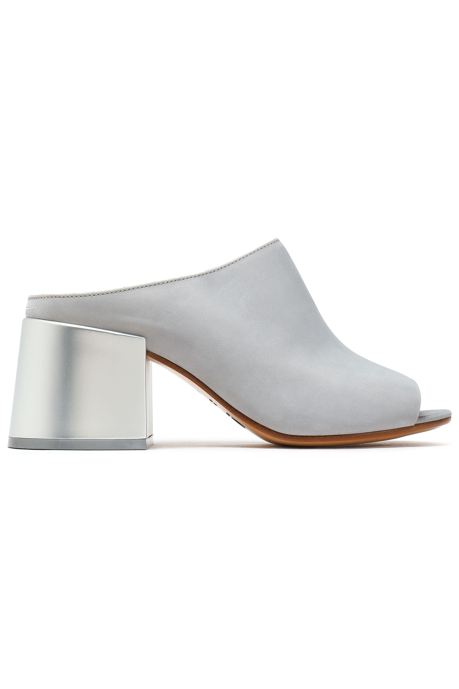 adb4ce0e7d6d Mm6 By Maison Martin Margiela Suede Mules in Gray - Save ...