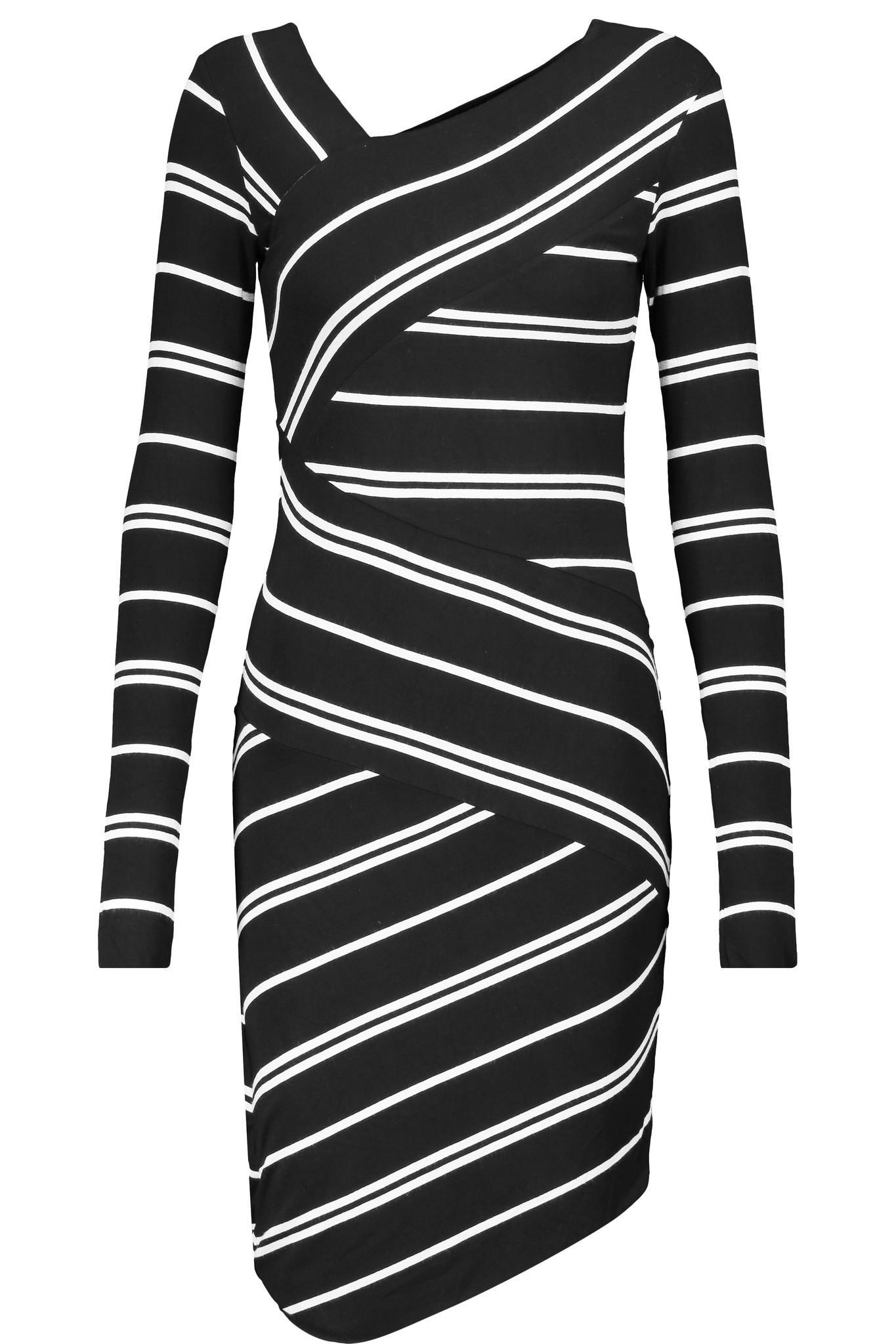 Anthropologie Founder Lyst Bailey 44 Striped Stretch Jersey Dress In Black
