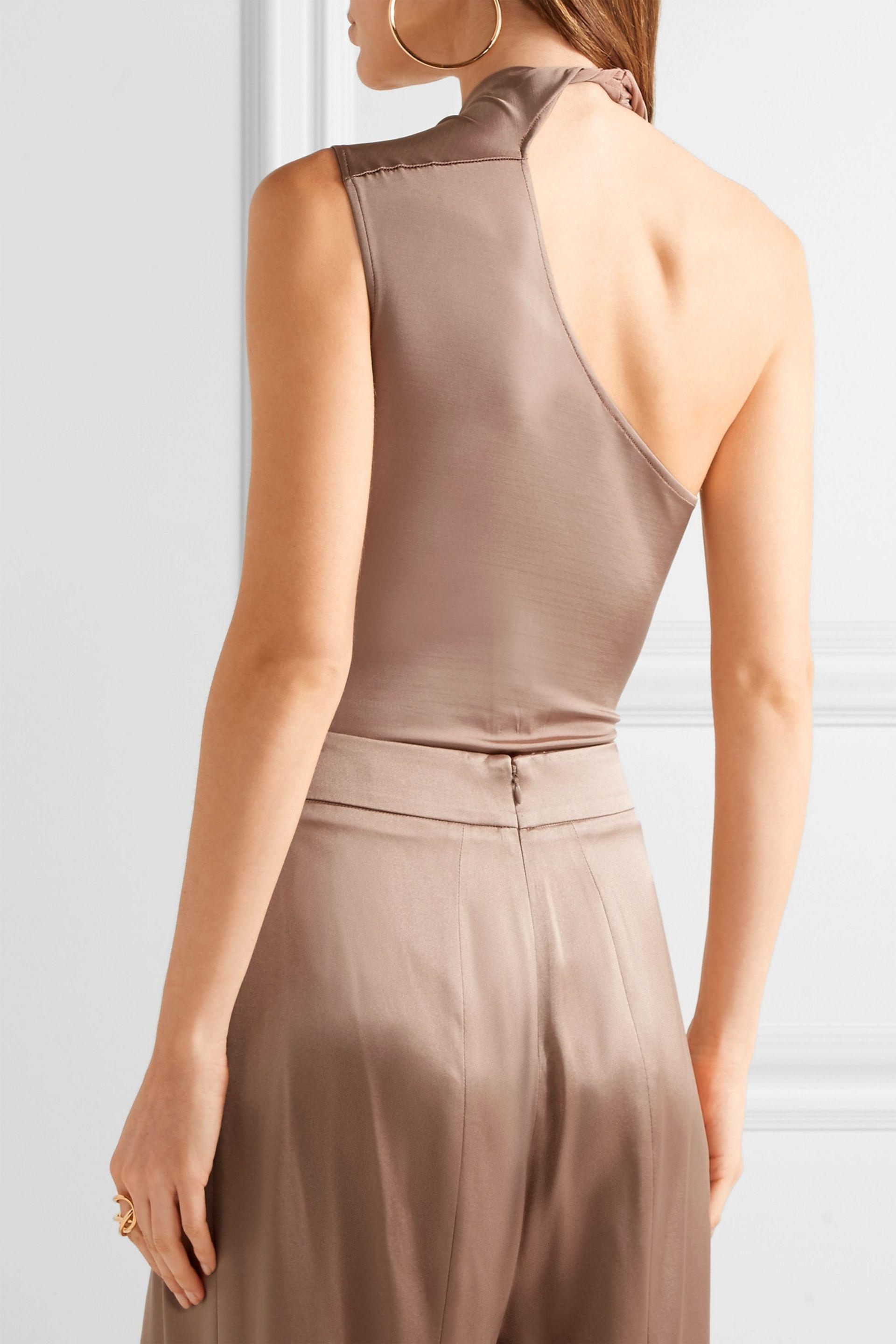 Cushnie Et Ochs Woman Twisted Wrap-effect Stretch-jersey Bodysuit Light Brown Size L Cushnie et Ochs Browse The Cheapest Sale Online With Mastercard Cheap Price Fashionable Cheap Price uvEyxM